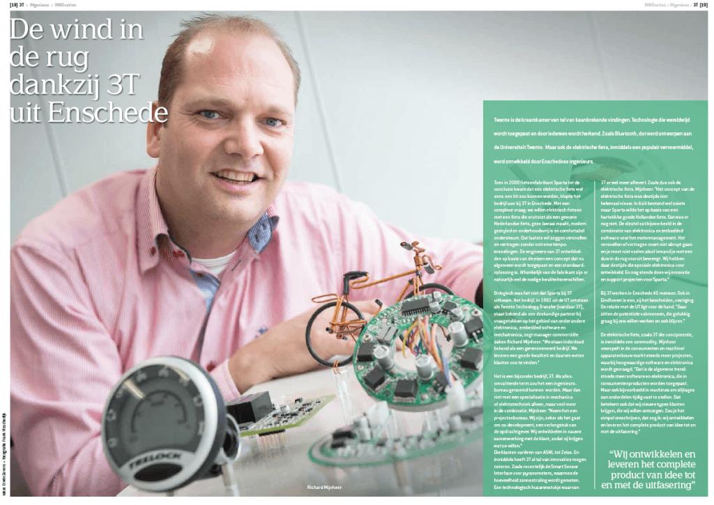 Elektrische fiets, de Sparta ION, ontwikkeld door 3T uit Enschede