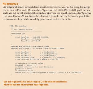 HSL pragma's in c-code